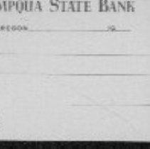 Image of Umpqua State Bank check