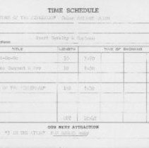 Image of Time schedule