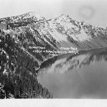 Image of Glacier Peak above Crater Lake