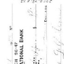 Image of check/ Oct. 18,1954