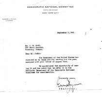 Image of Letter/from Demo. committee