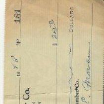 Image of check, moran lumber