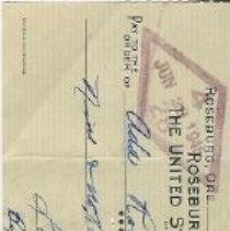 Image of check Jan. 29, 1954