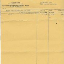 Image of bank statement, ladies golf te