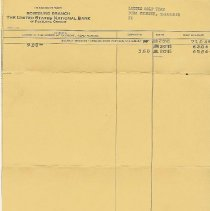 Image of bank statement