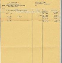 Image of bank statement