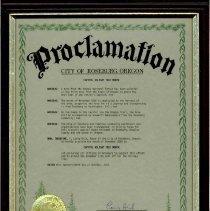 Image of City of Roseburg Proclamation