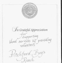 Image of Certificate of Appreciation