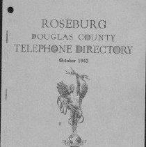Image of 1943 Roseburg Telephone Direc