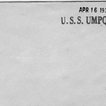 Image of USS Umpqua Envelope