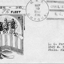 Image of U.S. S. Umpqua envelope (front