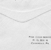 Image of U.S.S. Umpqua envelope (back)