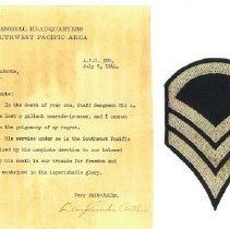 Image of Letter and patch