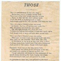 Image of poem Those