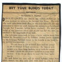 Image of Bond newspaper clipping