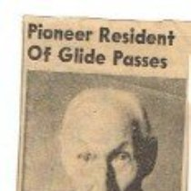Image of newspaper clipping obituary