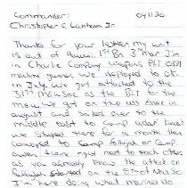 Image of Letter page 1