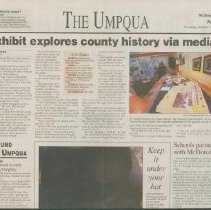 Image of Last of a three part series of exhibits commemorating Douglas County' 150th anniversary. This exhibit consists of the different types of media and how it was used to report the events of the 1950's forward. - Newspaper