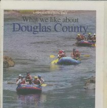 Image of Stories written by local residents on what they like best about Douglas County, recreation, friendliness, Umpqua River - Supplement, Newspaper