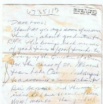 Image of 2006.1.007 - Letter