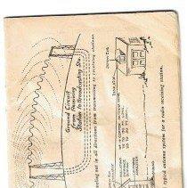 Image of Radio instruction booklet