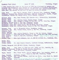 Image of RHS 1930 class roster