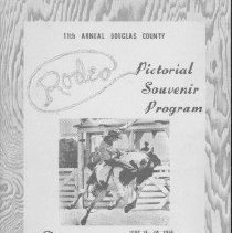 Image of Roseburg Rodeo 1955 - pamphlet