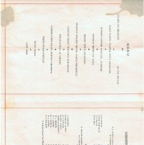 Image of banquet program inside