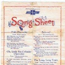 Image of Song sheet