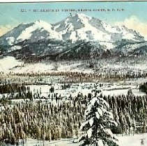 Image of Mt. Shasta in winter