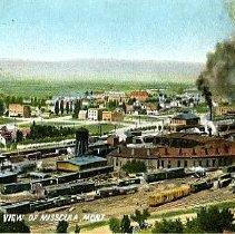 Image of Bir's eye view of Missoula, Montana