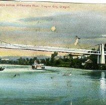 Image of Suspension Bridge, Willammette River