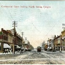 Image of Commercial Street looking North, Salem, OR