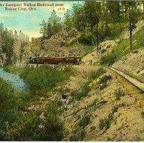 Image of Valley Railroad near Baker city, OR