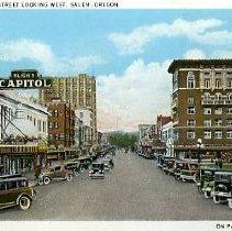 Image of Street looking west, Salem, OR