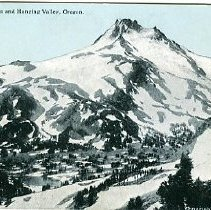 Image of Mt. Jefferson and Hanging Valley, OR
