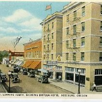 Image of Looking South, showing Umpqua Hotel