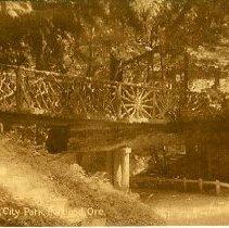 Image of Rustic Bridge Portland City Park