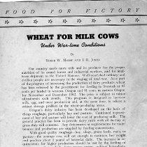Image of Extension Bulletin 611, December 1942 Food for Victory - Pamphlet