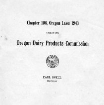 Image of Chapter 106, Oregon Laws 1943. - Booklet
