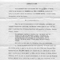 Image of Contract of Sale dated 17 March 1948 for the sum of $13,500). H.R. Underwood & Veta S. Underwood. Kanipe, Mildred - Documents