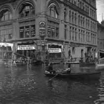 Image of GP4/5.199 - REMARKS:Unidentified street scene during flood in Portland, OR. ca. 1894