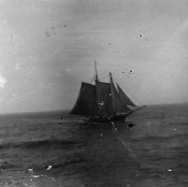 Image of GP4/5.28 - REMARKS:Two-masted schooner in full sail; Brown collection