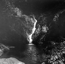 Image of GP4/5.414 - REMARKS:Outdoor photo of a waterfall cascading into a pool.