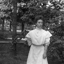 Image of Woman in garden, ca 1890