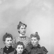 Image of Studio portrait of 4 young women, ca 1890