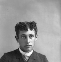 Image of Studio portrait of young man, ca 1890