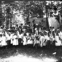 Image of GP8/10.30 - REMARKS:Group pose of Goddess of Liberty and children with banners of the states.  OBJECT DATE:ca 1890's