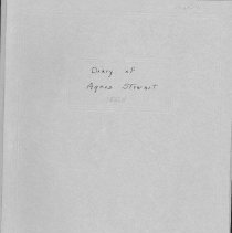 Image of Stewart, Agnes - Diary