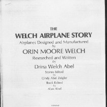 Image of Welch Airplane Story